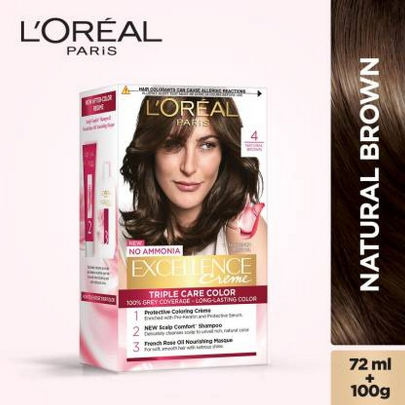 L'Oreal Paris Excellence Hair Colour Natural Dark Brown 4