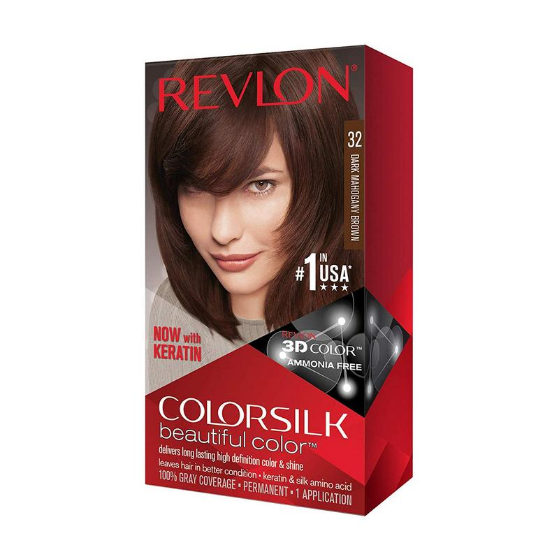 Buy Revlon Hair Colour Mahogany Brown Health Glow