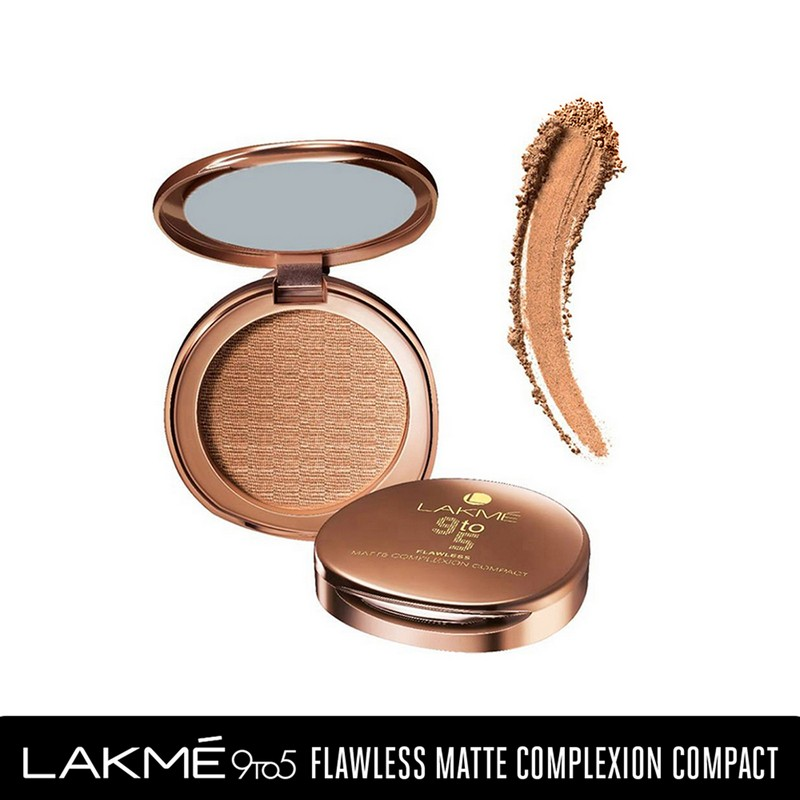 Lakme 9 To 5 Flawless Matte Complexion Compact Apricot Matte 8gm