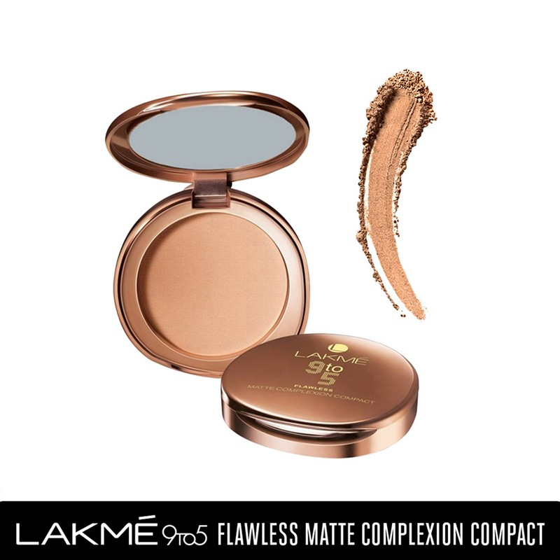 Lakme 9 To 5 Flawless Matte Complexion Compact Almond Matte 8gm