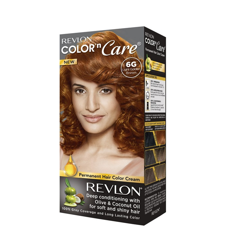 Revlon Color N Care Permanent Hair Colour Light Golden Brown 60gm