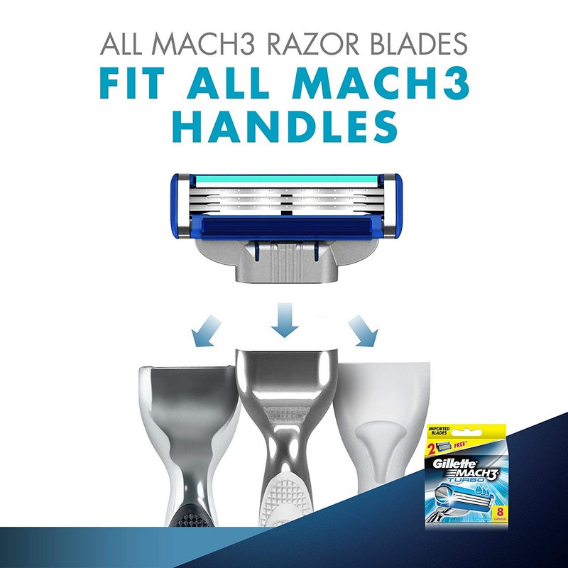 Gillette Mach3 Turbo Cartridg 8S