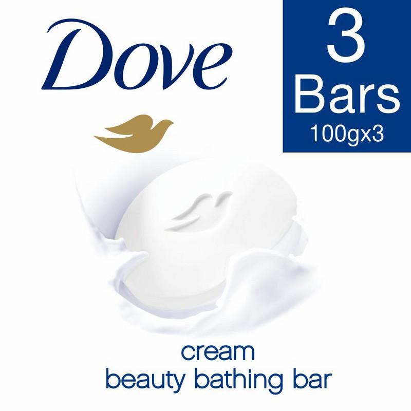 Dove Cream Beauty Bathing Bar 3 x 100gm