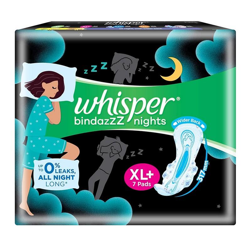 Whisper Ultra Night XL+ Sanitary Napkins 7 Pads