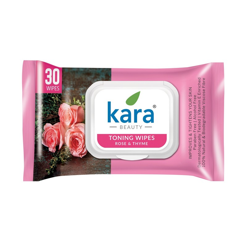 Kara Toning Wipes With Rose & Thyme 30 Pieces