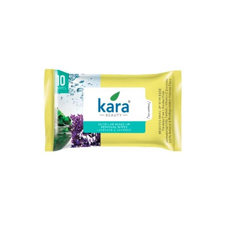 Kara Makeup Removal Wipes With Seaweed & Lavender 10 Pieces