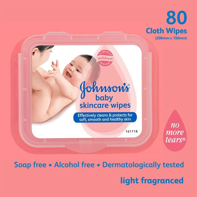 Johnson's Baby Skin Care Wipes 80N