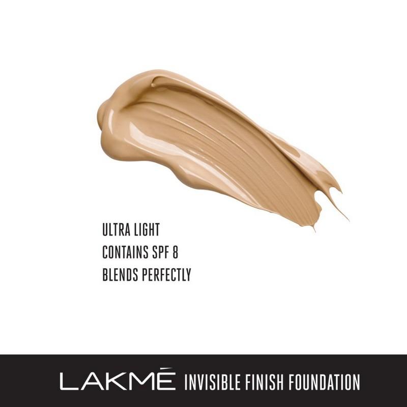 Lakme Invisible Finish SPF8 Foundation Shade 04 25ml