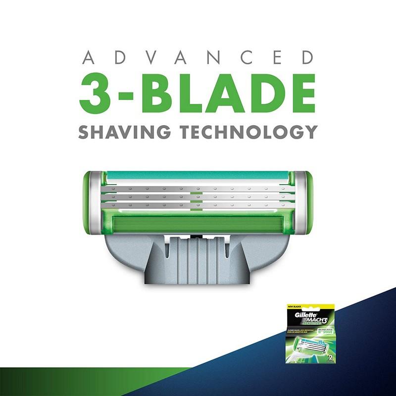 Gillette Mach3 Sensitive Blades 2 Cartridges