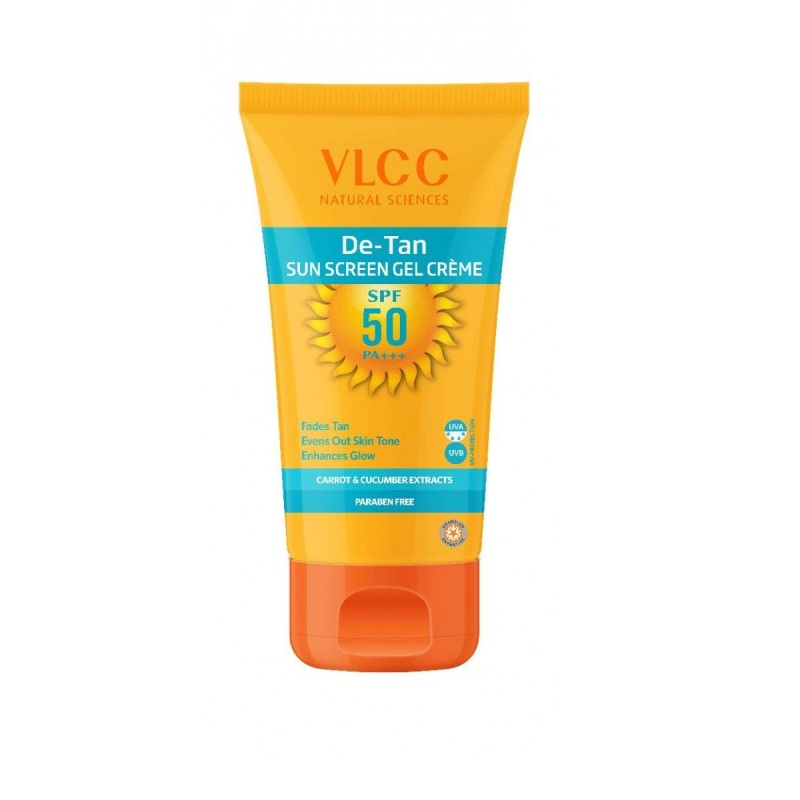VLCC Natural Science De Tan Sunscreen Gel Creme With Carrot & Cucumber Extract SPF50 PA+++ 100gm