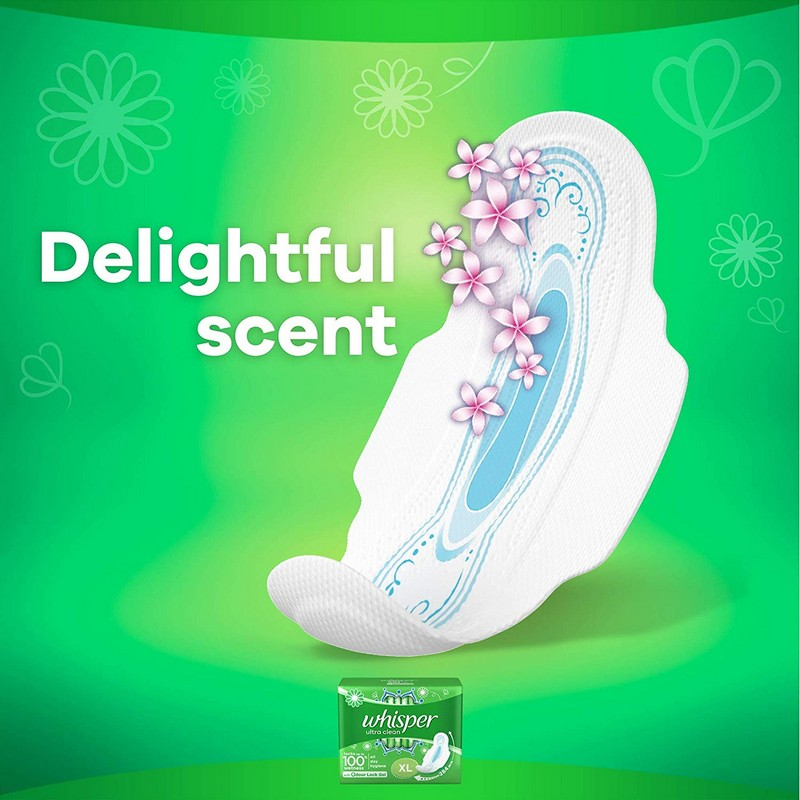Whisper Ultra Clean Long Wings 8 Pads
