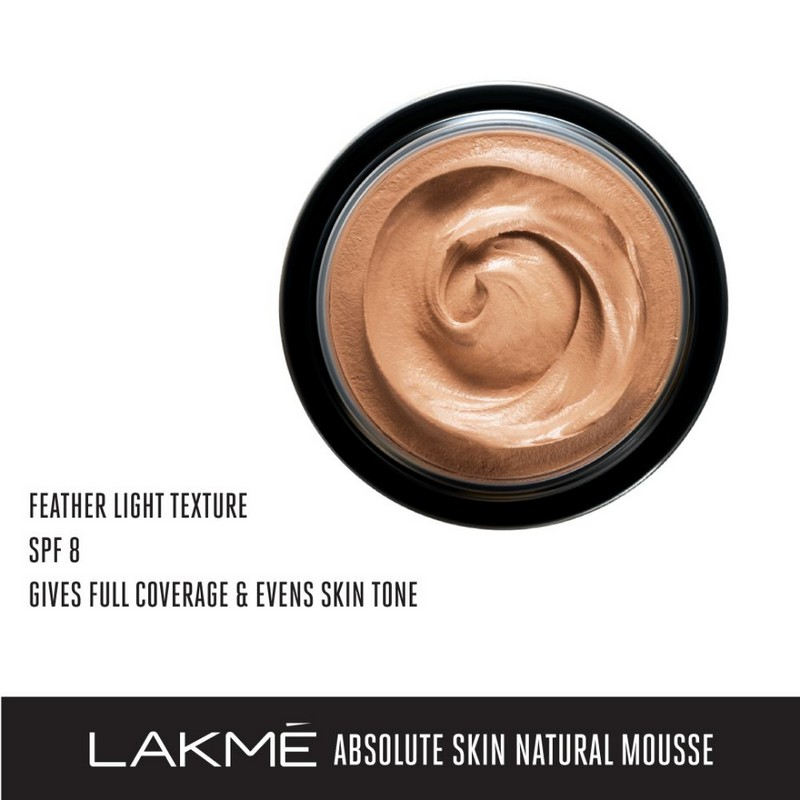 Lakme Absolute Skin Natural Mousse Beige Honey 05 25gm
