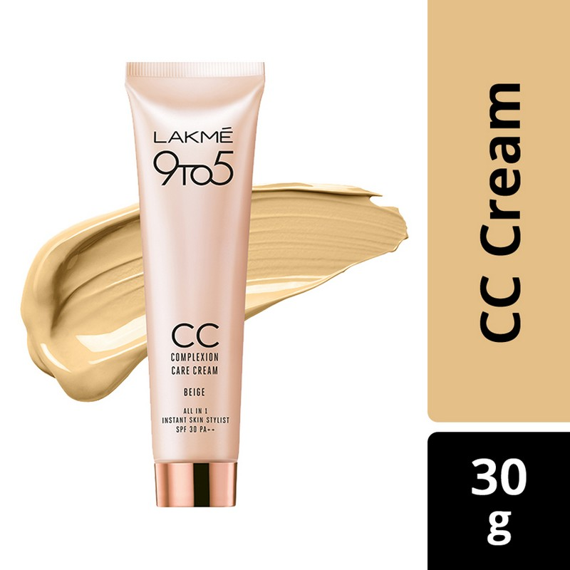 Lakme 9 to 5 Complexion Care CC Face Cream Beige 30gm