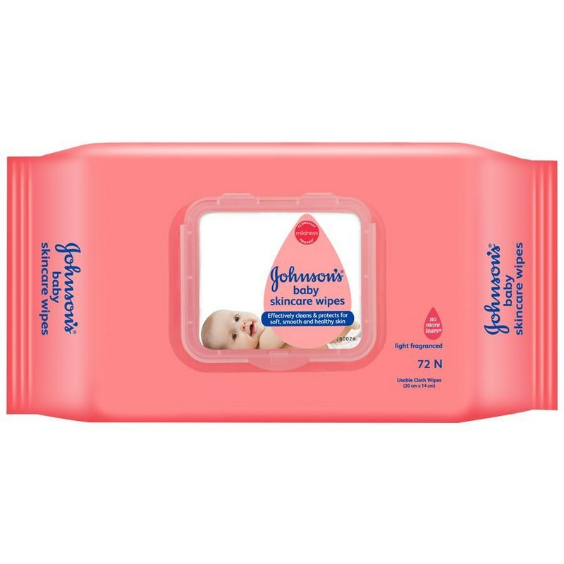Johnson's Baby Skin Care Wipes Pack Of 80*2