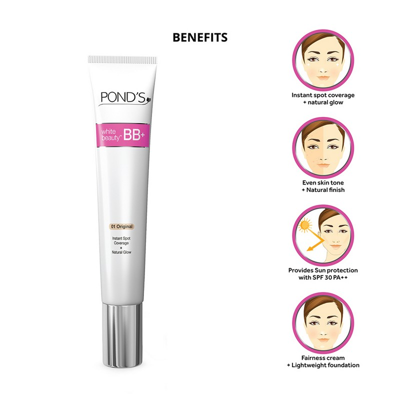 POND'S White Beauty Fairness BB Cream 01 Original SPF30 50gm