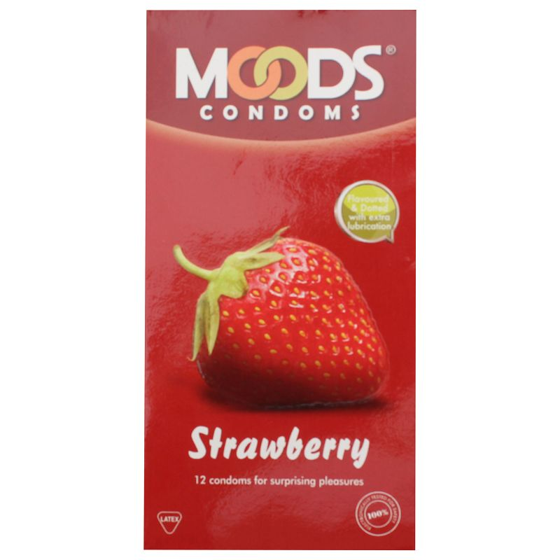 Moods Strawberry Flavoured Condoms Pack Of 12