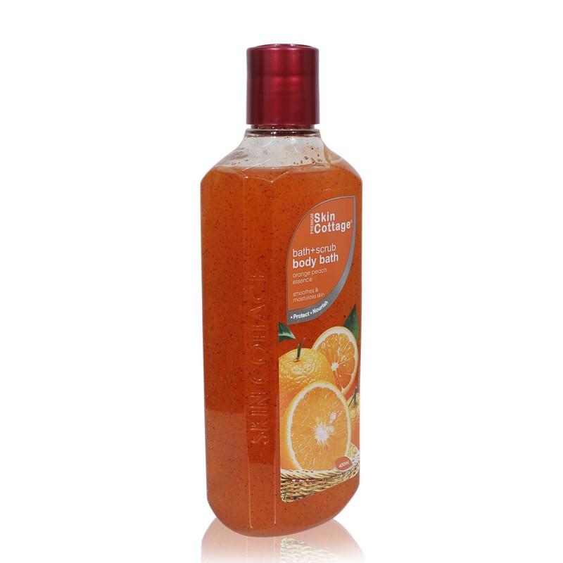 Skin Cottage Body Bath Scrub Orange Peach Essence 400ml