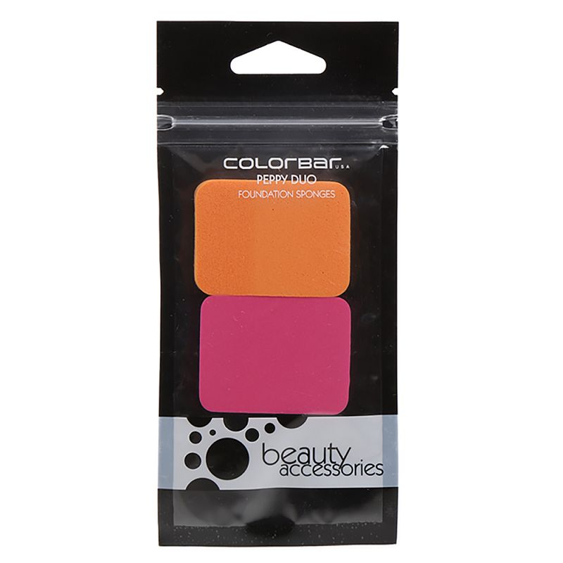 Colorbar USA Peppy Duo Foundation Sponges Pack of 2