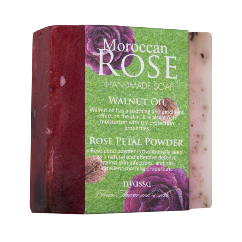 Nyassa Moroccan Rose Walnut Oil Handmade Soap 150gm