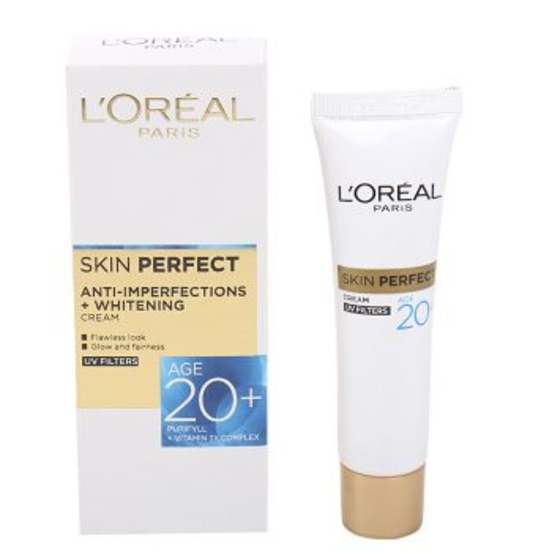 L'Oreal Paris Skin Perfect Anti Imperfections & Whitening Day Cream For 20 Plus 18gm