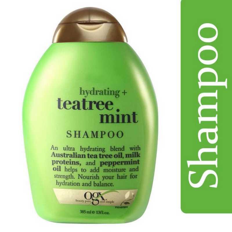 Organix Hydrating Tea Tree Mint Shampoo 385ml