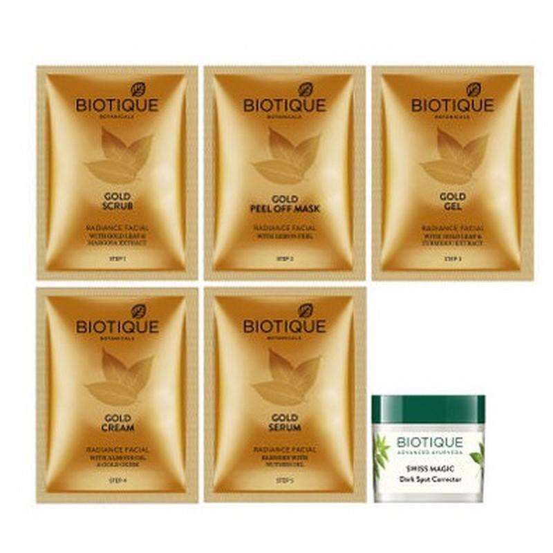 Biotique Radiant Young Skin Gold Radiance Facial Kit 15gm