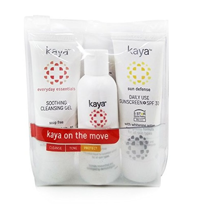 Kaya On The Move Kit Cleanse Tone & Protect