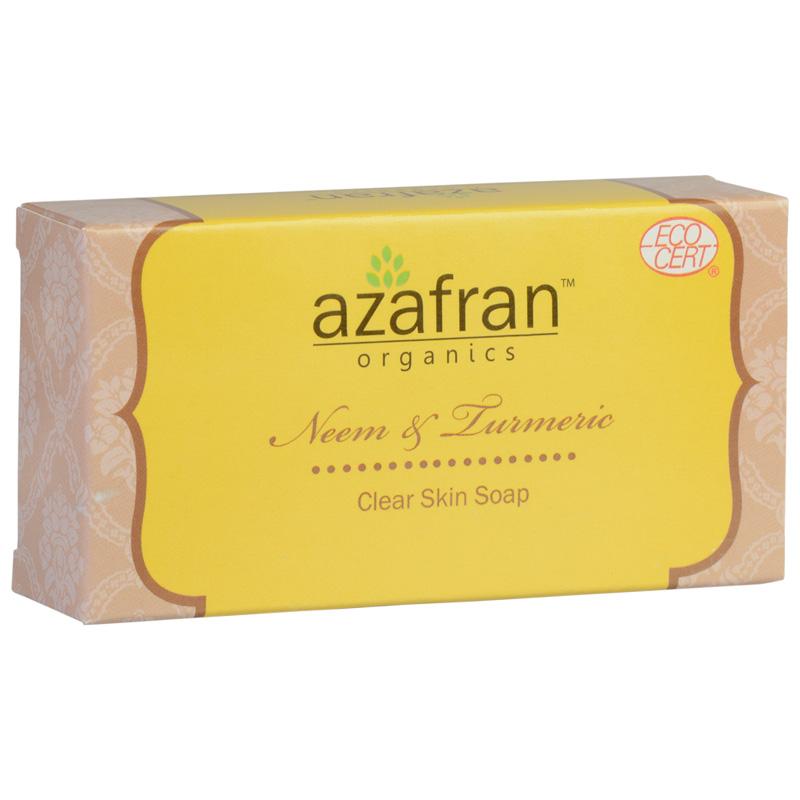 Azafran Organics Neem & Turmeric Clear Skin Soap 100gm