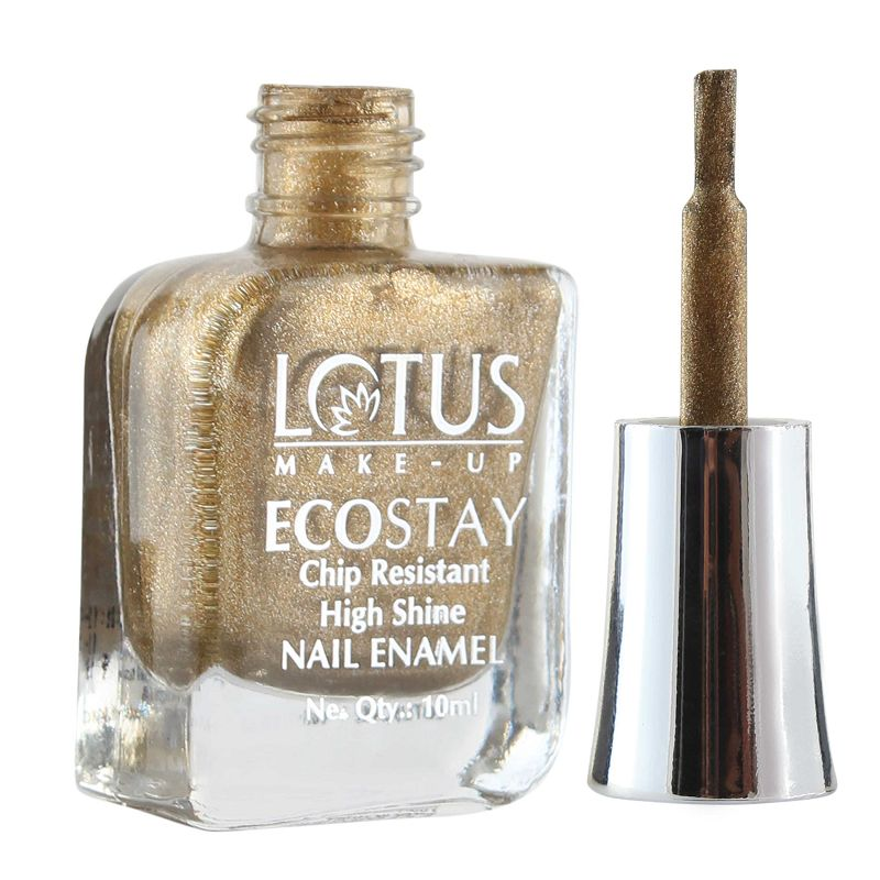 LOTUS ECOSTAY Hi Shine Nail Polish Gold Frost E44