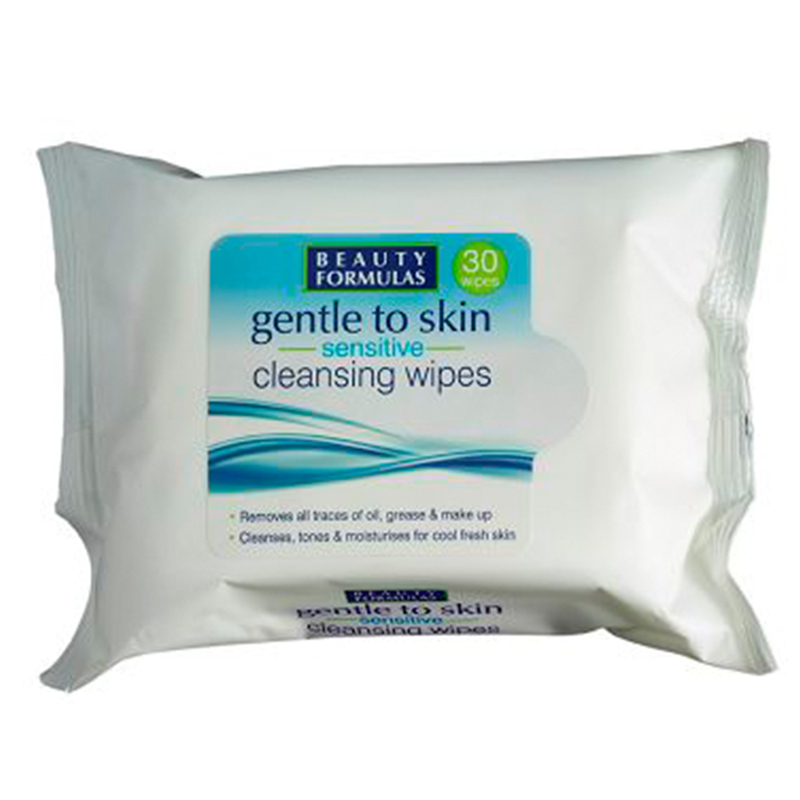 Beauty Formulas Gentle To Skin Facial Wipes 30 Pieces
