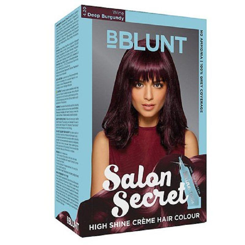 BBlunt Salon Secret High Shine Creme Hair Colour Wine Deep Burgundy 50gm