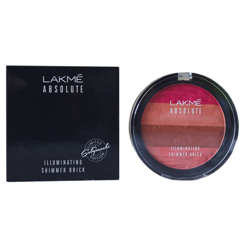 Lakme Absolute Illuminating Blush Shimmer Brick In Pink 10gm