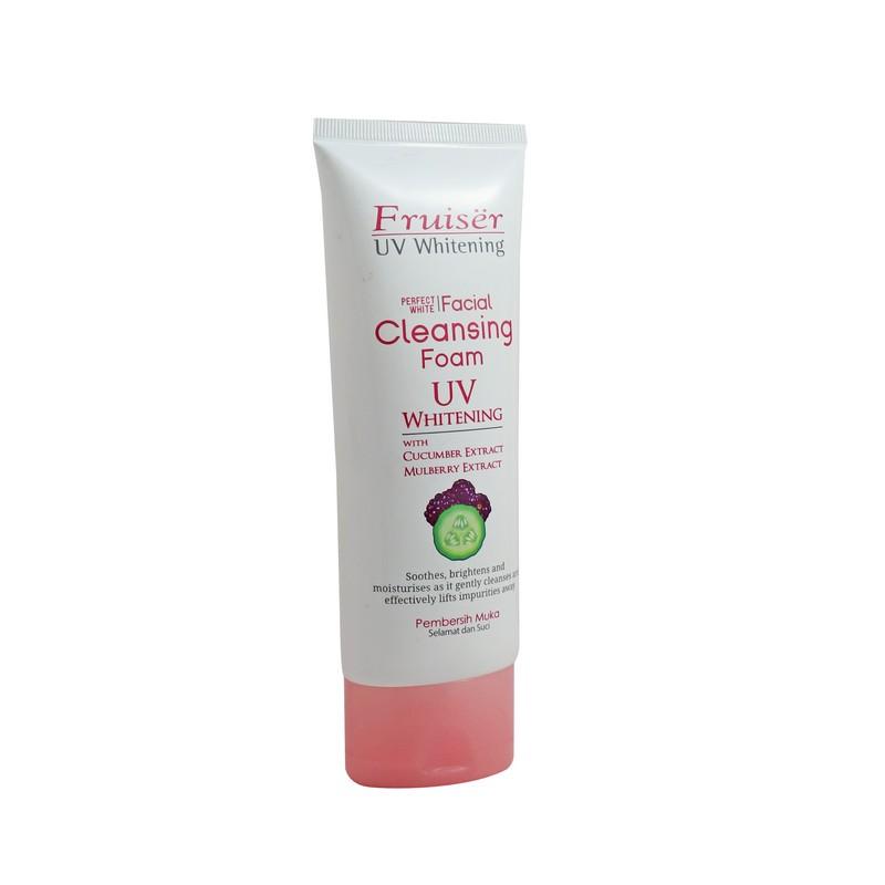 Fruiser UV Whitening Perfect White Facial Cleansing Foam 100ml
