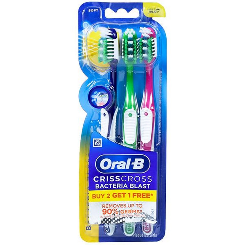 Oral-B Anti Bacterial Toothbrush Buy 2 Get 1 Free