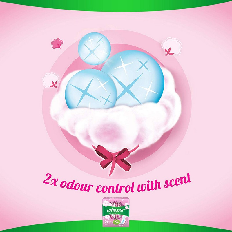 Whisper Ultra Soft XL Sanitary Napkins 7 Pads