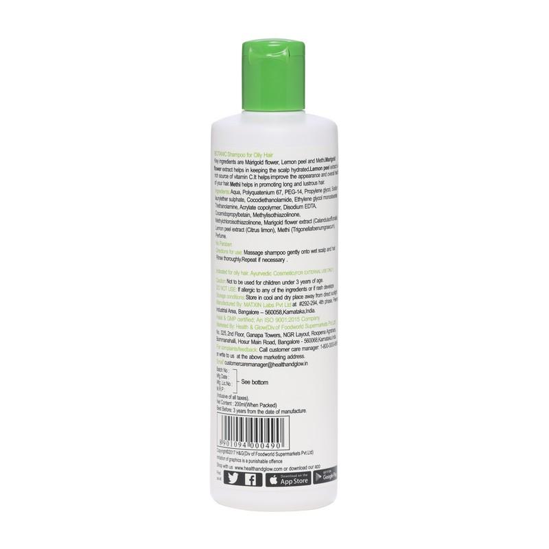 Botanic Marigold Flower, Lemon Peel & Methi Shampoo For Oily Hair 200ml
