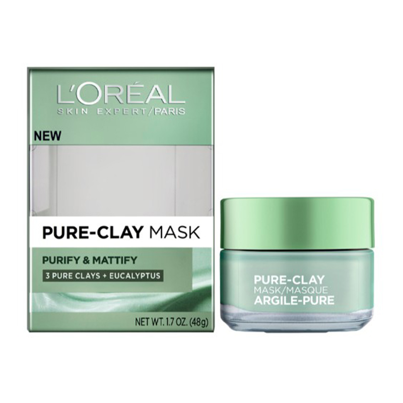 L'Oreal Paris Eucalyptus Pure Clay Mask Purify & Mattify 50gm