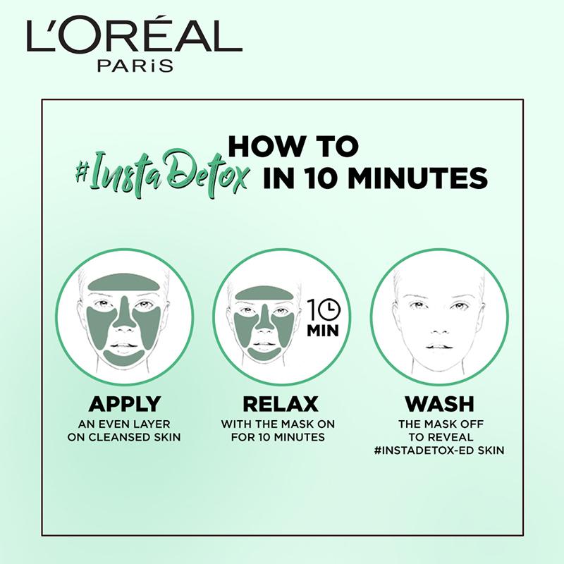 L'Oreal Paris Eucalyptus Pure Clay Mask Purify & Mattify 50gm