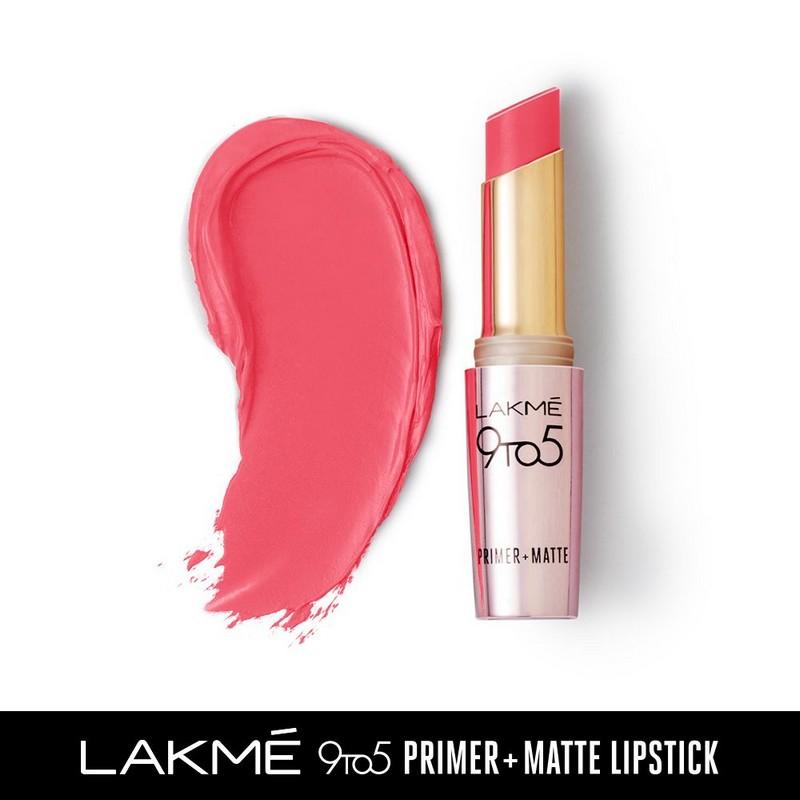 Lakme 9 To 5 Primer + Matte Lipstick Blush Book MP19