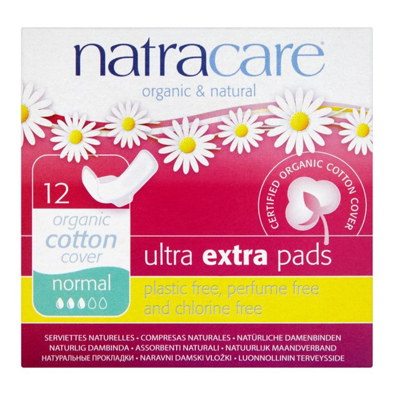 Natracare Ultra Extra Pads Normal 12 Sanitry Napkins
