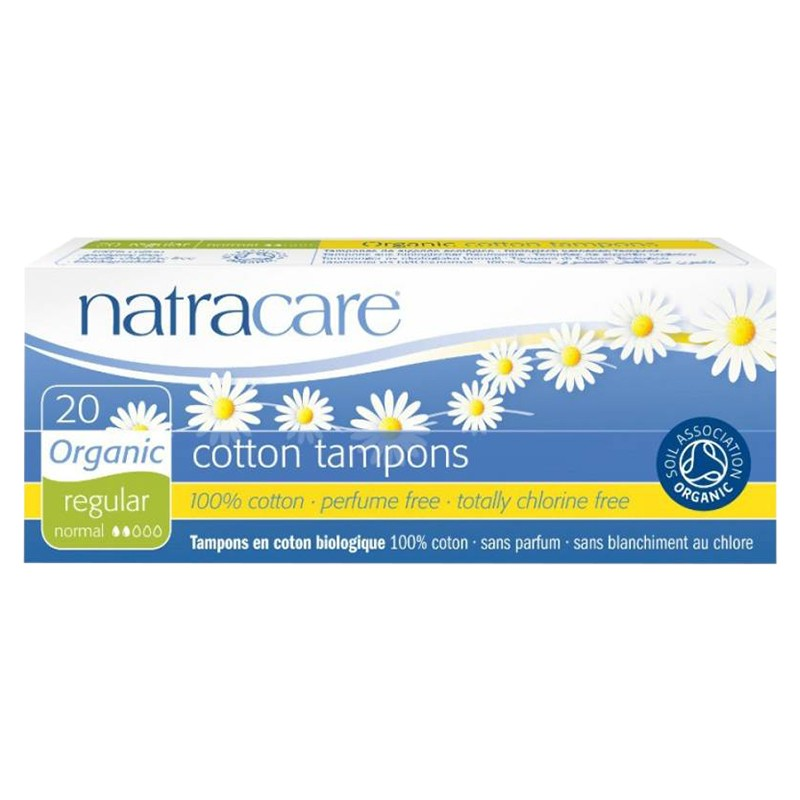 Natracare Cotton Tampons Regular 20S