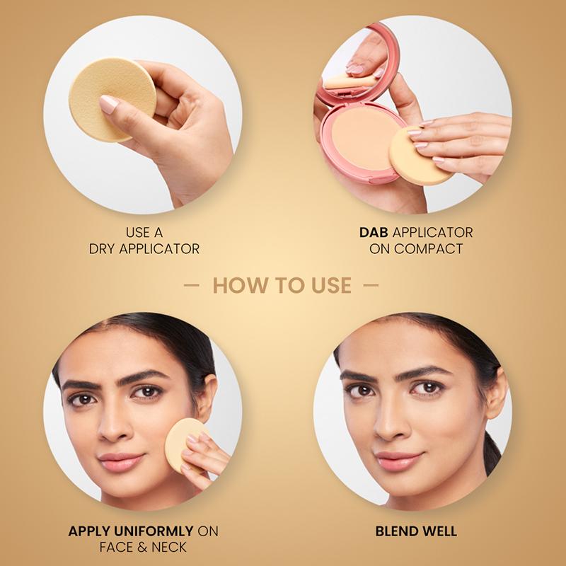 Lakme 9 To 5 Primer Plus Matte Powder Foundation Compact Ivory Cream 01 9gm