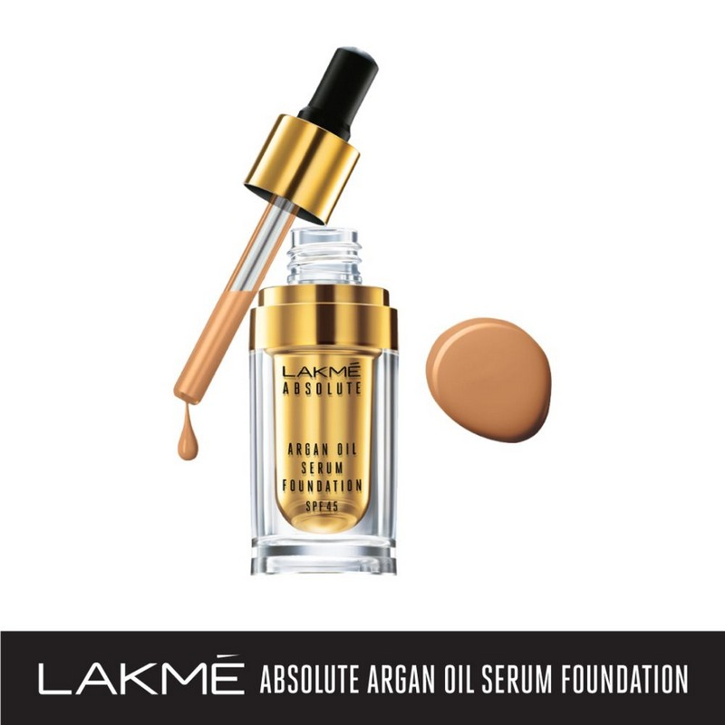 Buy Lakme Absolute Argan Oil Serum Foundation with SPF45 Honey Dew 15ml | Health & Glow