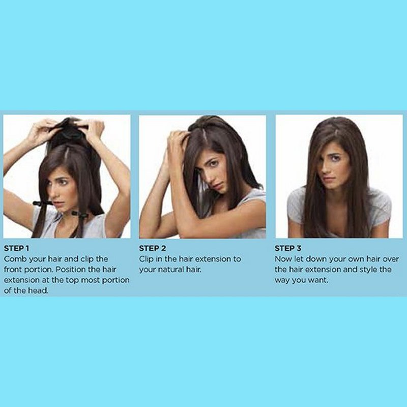 BBlunt B Hive Volume On Crown Clip In Hair Extension Light Brown