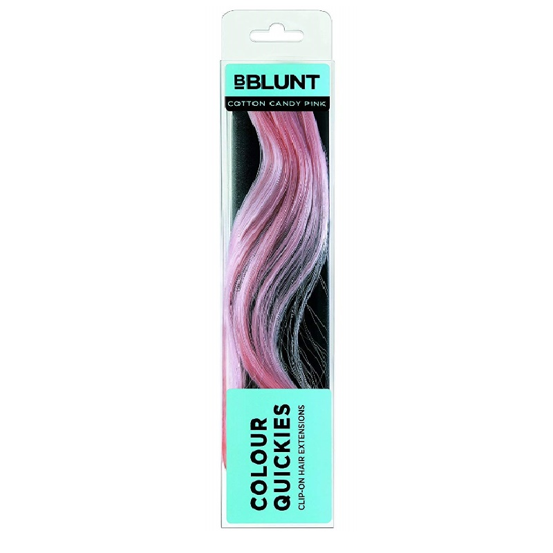 BBlunt Colour Quickies Clip On Hair Extension Cotton Candy Pink