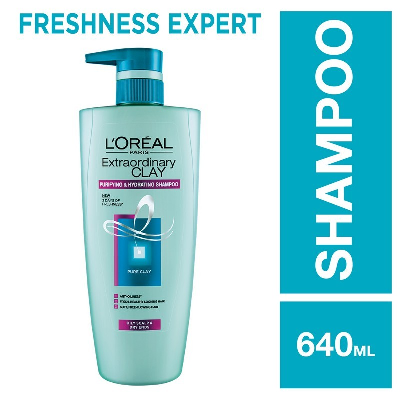 L'Oreal Paris Extra Ordinary Clay Shampoo Purifying & Hydrating 640ml