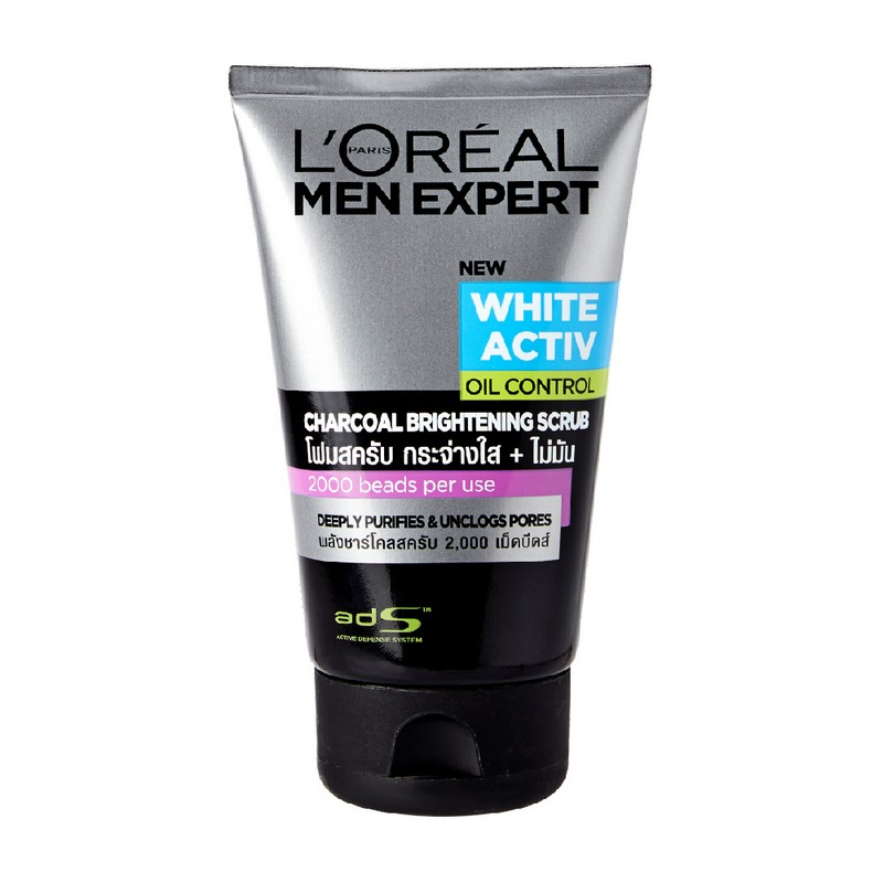 L'Oreal Paris Men Expert White Activ Oil Control Charcoal Brightening Scrub