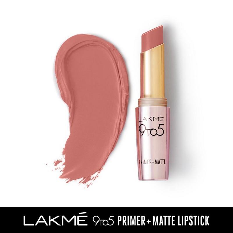 Lakme 9 To 5 Primer + Matte Lip Colour MP22 Blushing Nude 3.6gm