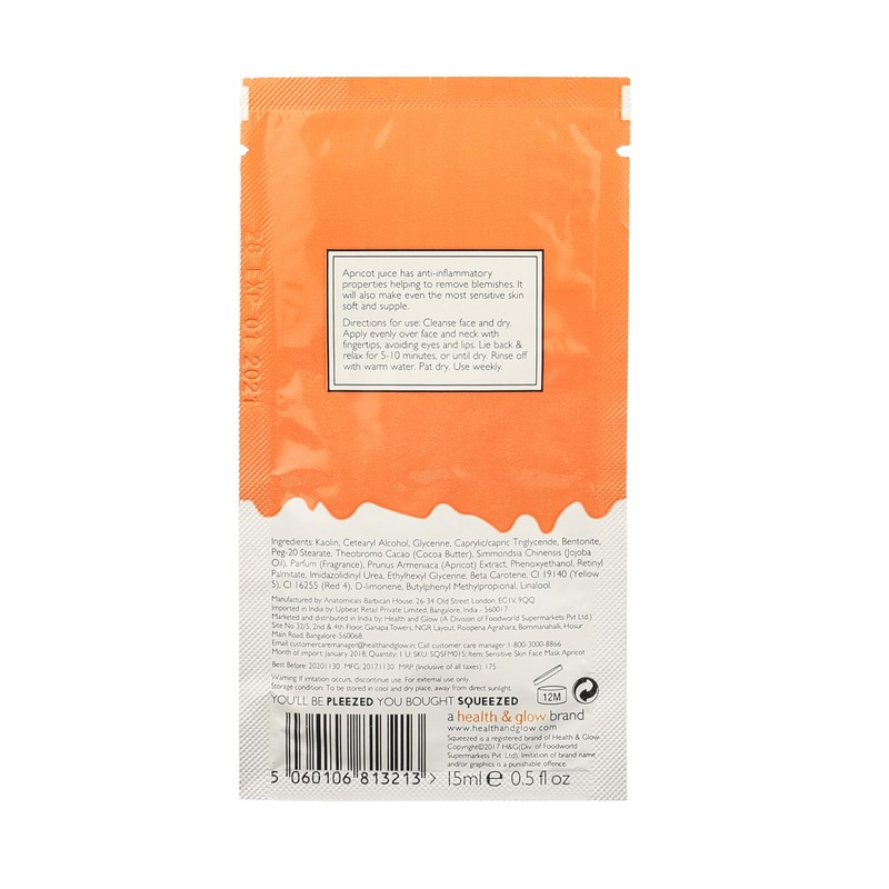 SQUEEZED Sensitive Skin Apricot Face Mask