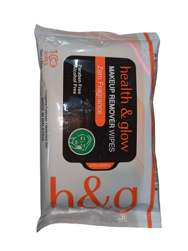 Health & Glow Makeup Remover Wipes 10 Pieces